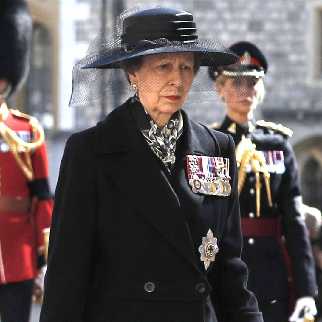 Princess Anne Takes Prominent Place at Prince Philip's Funeral