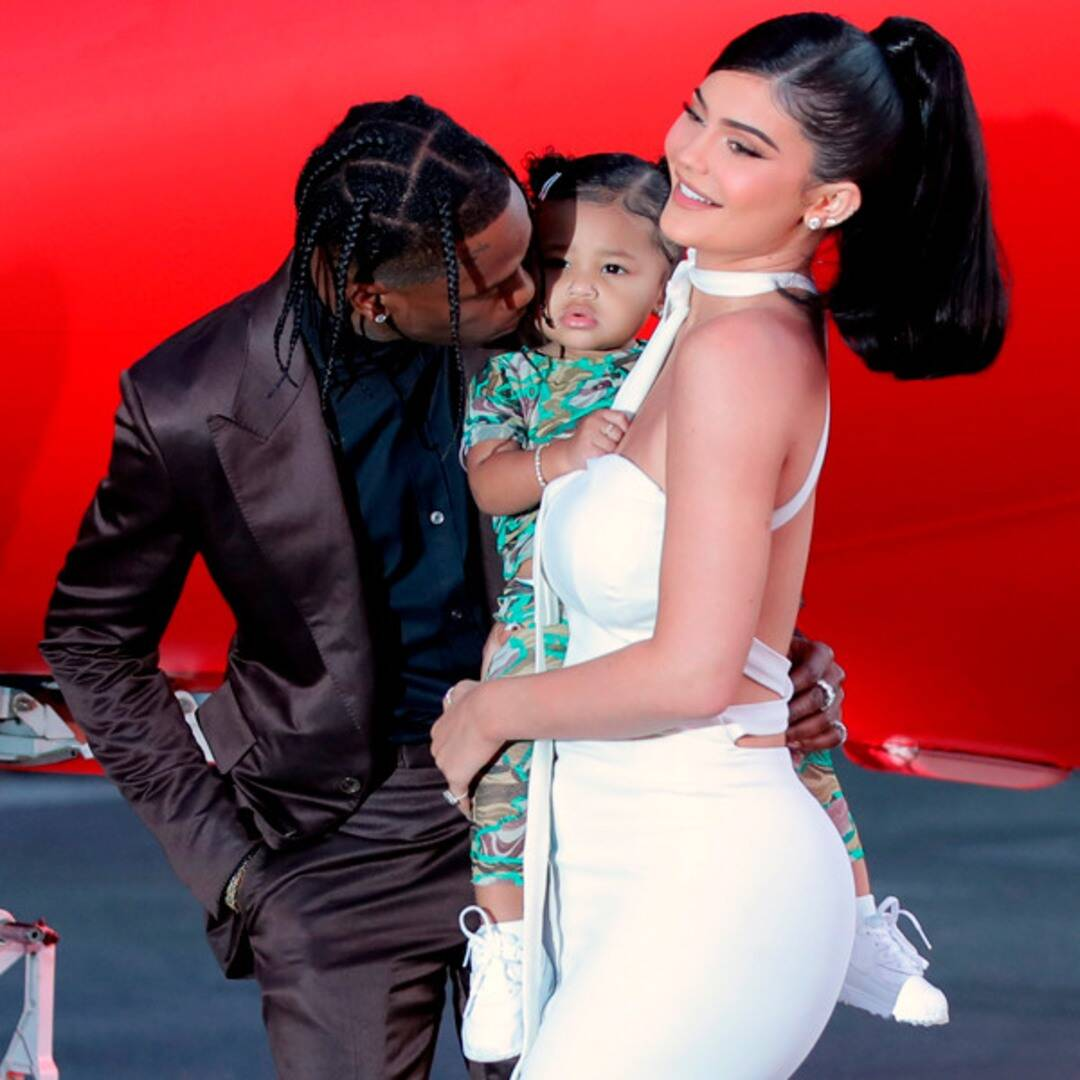 Stormi Has Cute Water Balloon Fight With Kylie Jenner and Travis Scott