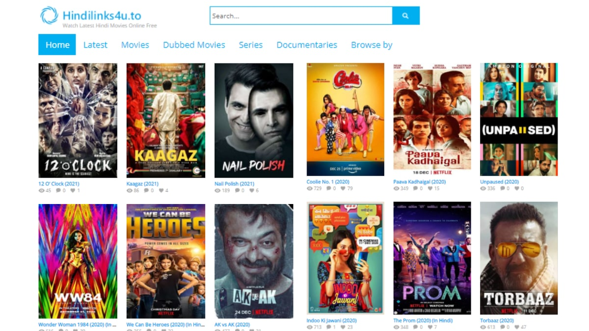 Hindilinks4u 2021 Website – Watch Free Movies and TV Shows Online