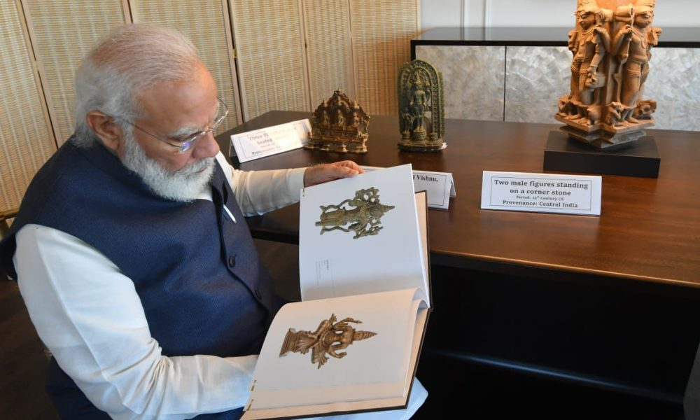 PM Modi Brings Back 157 Stolen Indian Artefacts Returned By US Government